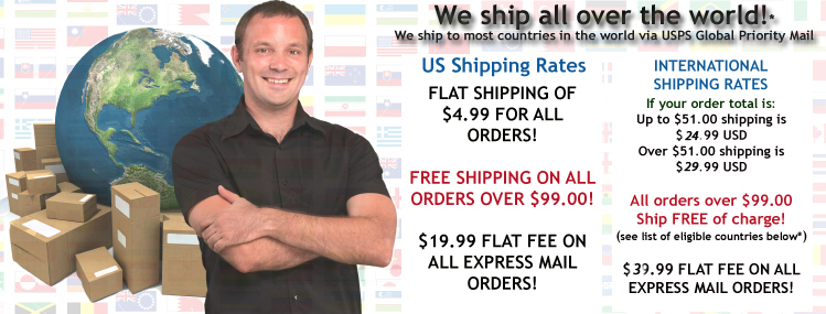 we ship all over the world