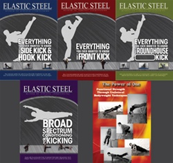 Kick Master Combo - RoundHouse Kick DVD, Side & Hook Kick DVD, Front Kick DVD with FREE Broad Spectrum DVD and Power of One Book!